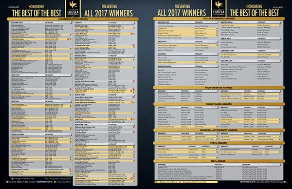 #lilizelaawards17 #LilizelaAwards17 Celebrates Pioneers, Innovators, Stalwarts and SMEs 2017 Lilizela Tourism Awards Winners List