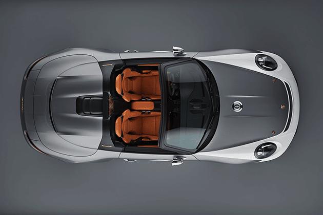 Porsche 911 Speedster Celebrates 70 Years of Sports Cars Porsche 911 Speedster Concept Top View