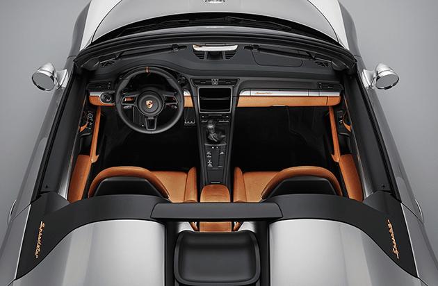 Porsche 911 Speedster Celebrates 70 Years of Sports Cars Porsche 911 Speedster Concept Top