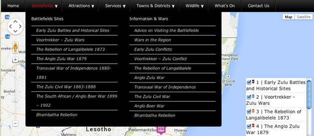 Battlefields-Navigation  New Battlefields Route Website Battlefields Navigation