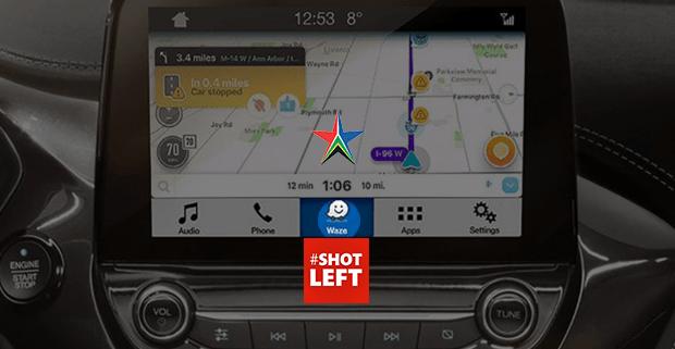 mobile app on car dashboard