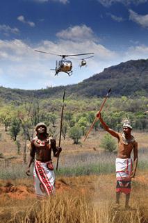 Askari and helicopters on safari