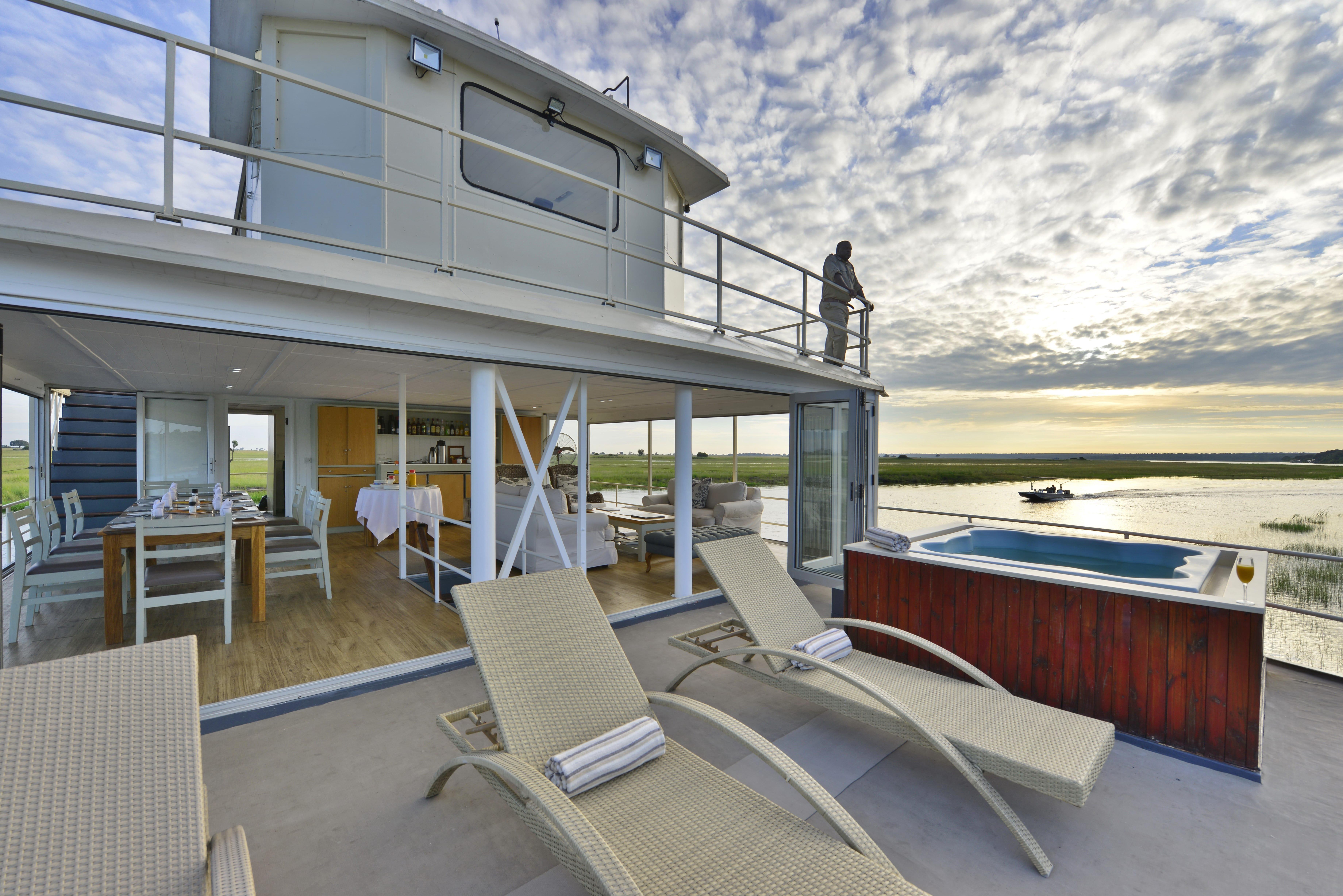Chobe Princess houseboat deck