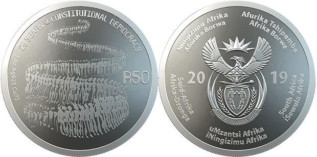 SA Mint 2019 SA25 R50 Silver Coin