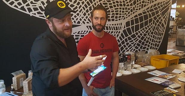 Darling Brews' GM Lars Pflanz and master brewer Hennie Blom