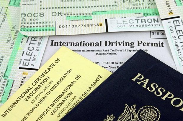 International Driver's Permit with passport