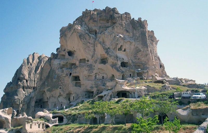 Castle-mountain in Uchisar, Turkey