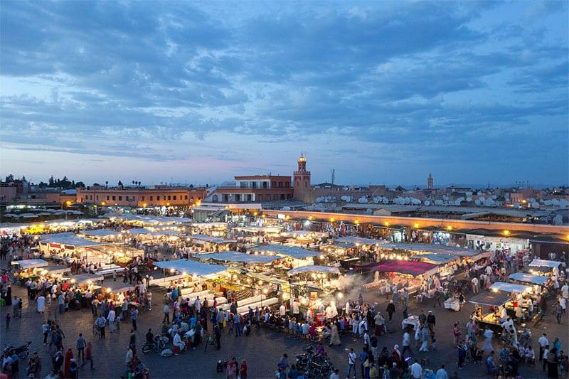 Jemma el Fna market in Marrakesh Morocco