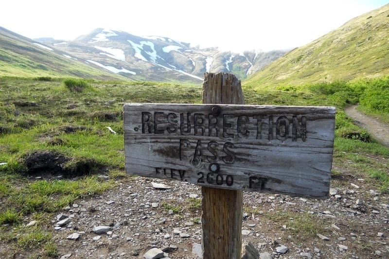 Resurrection Pass sign Alaska