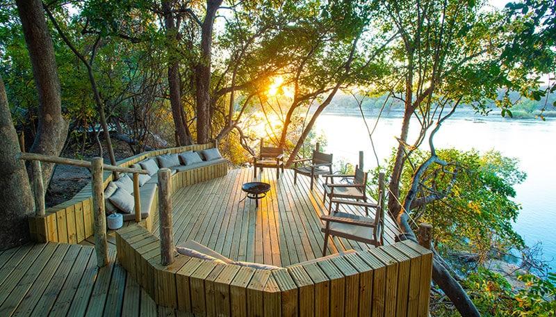 Tsowa Safari Island boma deck