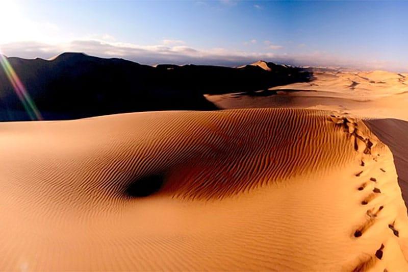 Namibia desert dune footprints