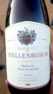 Red wine: Grand Vin Stellenbosch Shiraz Mourvdre blend