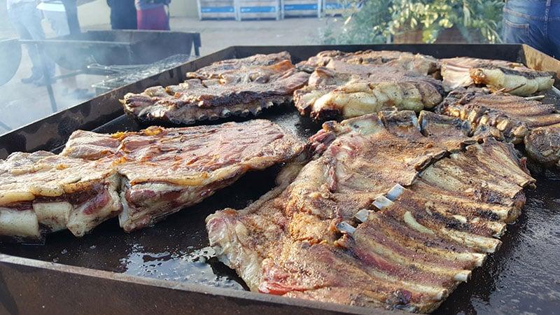 Beef ribs on a braai