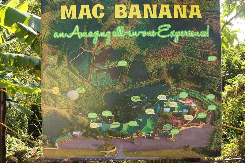 Mac Banana map signage