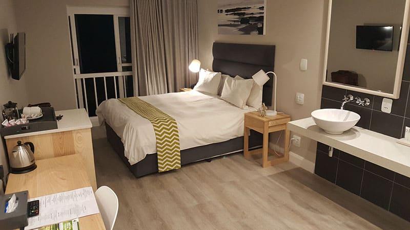Bedroom interior at San Lameer Hotel