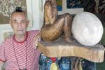 Artist Antonio Filippin in his art gallery, Mahe, Seychelles