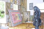 Paintings in the studio of Colbert Nourrice, Seychelles